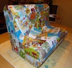 Canapé en carton pour enfant (2 places)